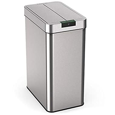 hOmeLabs 21 Gallon Automatic Trash Can for Kitchen - Stainless Steel Garbage Can with No Touch Motion Sensor Butterfly Lid and Infrared Technology