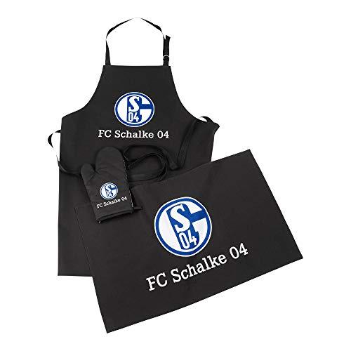 FC Schalke 04 Grillset 3 Teilig (one Size, schwarz)