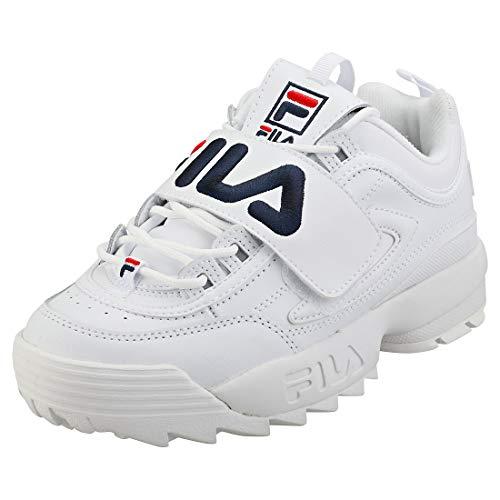 Fila Disruptor II Applique damskie białe buty sportowe, - Biały granatowy czerwony - 38.5 EU