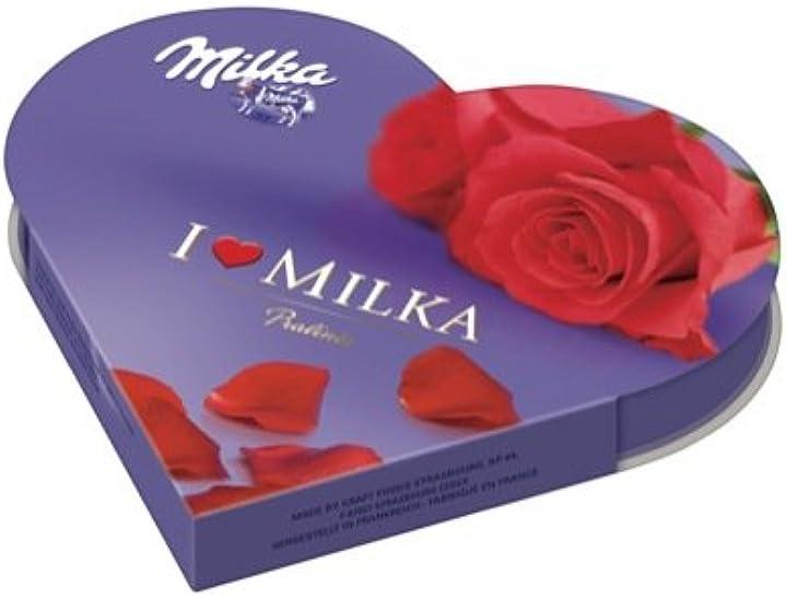 Cioccolatini con scatola a cuore milka -  i love impulscus, cioccolatini, 12 pezzi B00OBWQI04