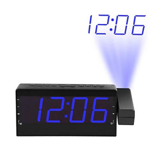 Digitale Radio Wekker Projectie Snooze Timer Temperatuur Led-Display Usb-Oplaadkabel 110 Graden Tafelwand Fm-Radioklok 3