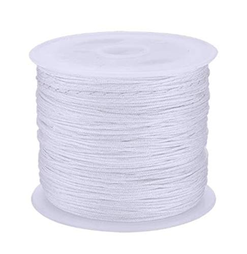 HLWJ 0.8mm Thread Nylon Thread Soft Lace Bracelet Braided Rope DIY Beaded Tassel Decorative Rope...