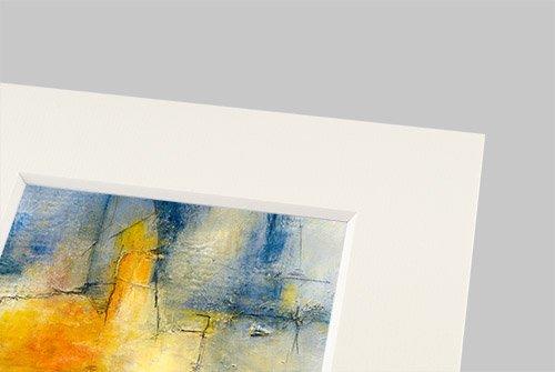 Passepartout Elfenbein 21x29,7 cm (A4), 4 er Pack, Passepartout mit Ausschnitt für A 5 (14,8x21 cm) Bilder
