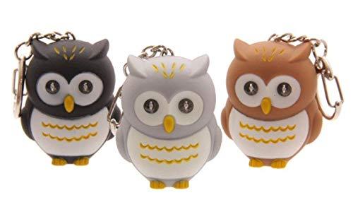 Hooting Owl LED Schlüsselanhänger Helle Taschenlampe Schlüsselbund mit Owl Sound