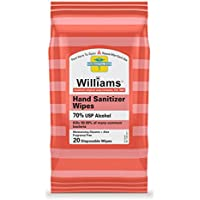 20-Count Williams 70% Alcohol Antibacterial Hand Sanitizer Wipes