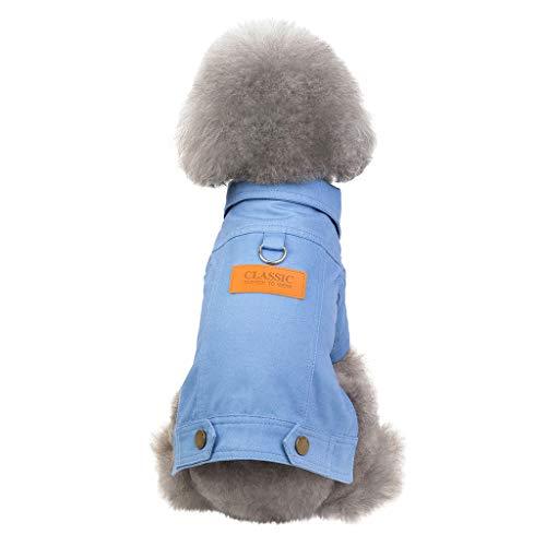 Cuteelf Pet Kleidung Mode Haustier Jeansjacke Herbst und Winter, um warme Katze und Hund Kleidung Mode Denim Werkzeug Jacke niedlichen Gentleman Typ zu halten