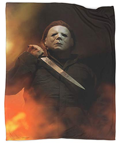 Halloween Movie Michael Myers Super Soft Luxurious Plush Blanket Washable Lightweight Blankets for Bed Sofa Chair Couch Home Decorative Throws 60'x80'