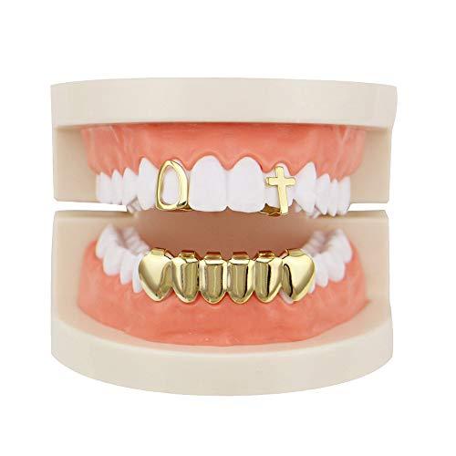 MCSAYS Ensemble de Grils /à Dents pour Le Haut et Le Bas Bling plaqu/és Or