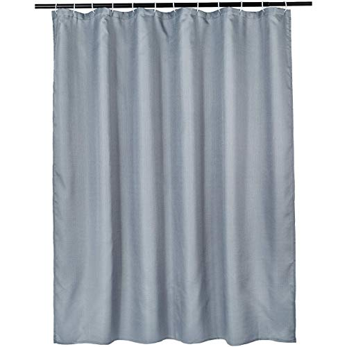 Amazon Basics Linen Style Bathroom Shower Curtain - Dark Grey, 72 Inch