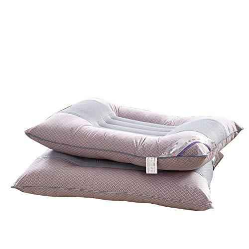 ClothHouse Paquete De 2 Almohadas De Tamaño Estándar Almohada Cervical Anti Ronquido, Antipolvo Y Antialérgico: Lavable 48 X 74 Cm