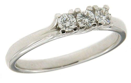 Trilogy in oro bianco 750 18 kt con diamanti - Orolab N35