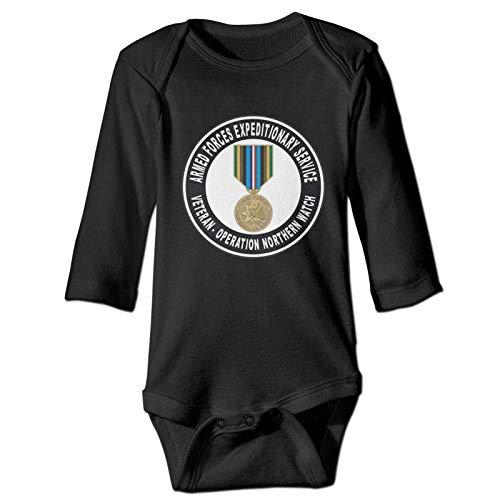 Lsjuee Medalla expedicionaria de Las Fuerzas Armadas, operación Northern Watch, Mono de Manga Larga para bebé, Mono Acogedor de Manga Larga