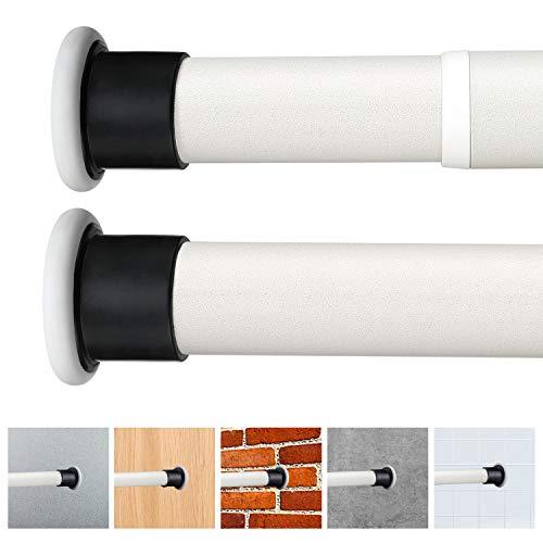 LC&TEAM 310-360cm Duschvorhangstange Teleskopstange aus Edelstahl ohne Bohren Gardinenstange Kleiderstange Multifunktionsstange Duschvorhang Spannstange für Wäschezimmer Beiges Φ3,2