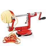 Mionyl Apple Peeler, Slicer, Corer and Spiralizer with Sturdy Suction Base, Stainless Steel Design, Heavy Duty and Durable