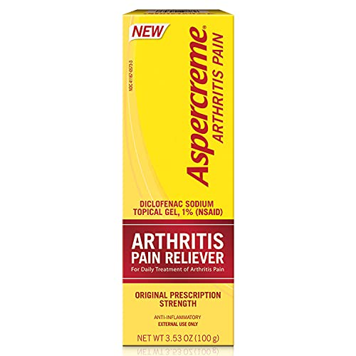 Aspercreme Arthritis Pain Relief Gel 100g, Prescription Strength Non-steroidal Anti-inflammatory