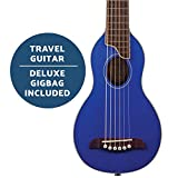 Washburn Rover 6 String Acoustic Guitar Pack, Right, Trans Blue, Full (RO10STBLK-A)