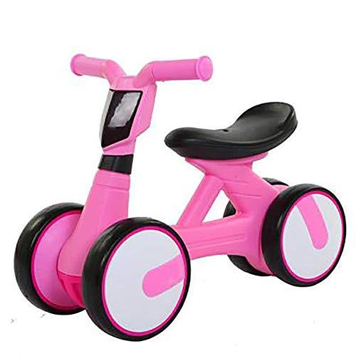 Baby-balansfiets, compenserende loophulp kind verjaardagscadeau vier rolschaatsen 22.4Zoll roze