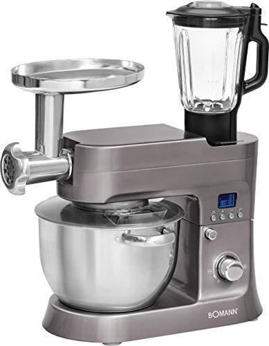 Bomann KM 1395 CB Robot de Cocina Multifunción, Batidora Amasadora, 1200 W,...