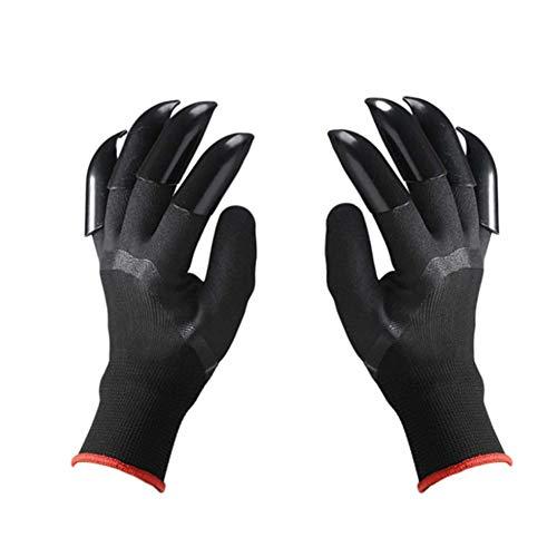 guanti giardinaggio con unghie RHXX Giardino Scavando Guanti Gomma da Cancellare Nero Protettivo Guanti Impermeabile Durevole con 8 Artigli per Piantare Diserbo