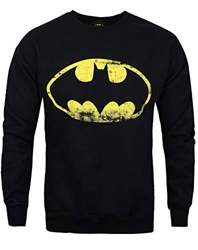 Official Batman Distressed Logo Men's Sweater Black