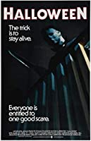 Halloween (1978) Movie Poster Horror Michael Myers Trick Is To Live Wall Art Poster Print On Canvas For Living Room Decor 50x70cm Unframed