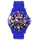 orologio in silicone blu per fan fortnite