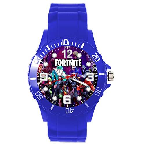 Taport® Silikon-Armbanduhr für FORTNITE Fans Blau
