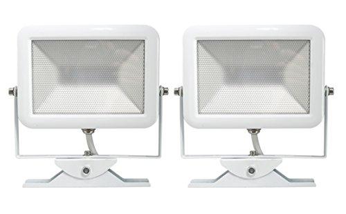 Electraline 92302par 2x Proyector Foco Slim de exterior, IP44a LED con sensor...