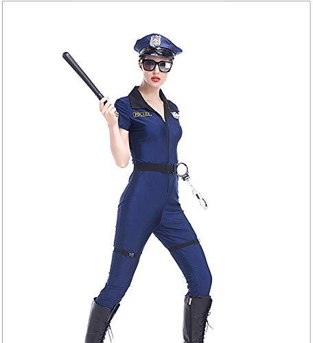 XSQR Politie Fancy Halloween Kostuum Sexy Outfit Vrouw uniform Cosplay Sexy Politie Kostuums voor Vrouwen 7 stks/set