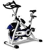 CDPC Bicicleta estática Bicicleta de Giro Equipo de Entrenamiento estacionario con Pantalla LCD Ajuste de Resistencia Fácil de Mover