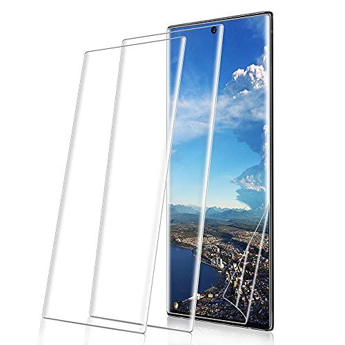 MC WHLZD Panzerglas für Samsung Galaxy Note 10 Plus [2 Stück], 9H Härtglas Anti-Staub Schutzfolie, Ultra-klar,2.5D Runde Kante Panzerglasfolie Kompatibel mit Samsung Galaxy Note 10 Plus