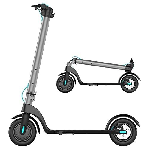 YX-ZD Scooter Eléctrico Portátil Plegable para Adultos, Scooter Eléctrico 10 Pulgadas, Neumáticos Vacío, 20 mph, 28 Libras, Bicicleta Eléctrica Cuerpo Ultraligero
