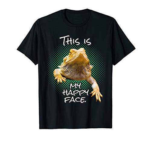 This Is My Happy Face Bearded Dragon Funny Reptile T-Shirt
