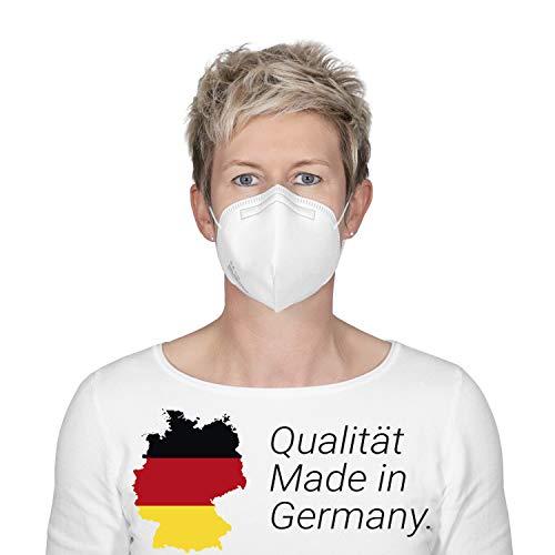 elasto form 10x FFP2 Maske CE Zertifiziert MADE IN GERMANY -Bekannt aus TV- FFP2 Atemschutzmaske Staubschutzmaske Partikelfiltermaske Staubmaske