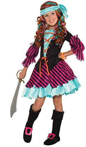 Salty Taffy Girl's Pirate Costume, Medium