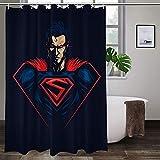 Ungiftig, kein Geruch, Duschvorhang, Superman-Duschvorhang, modischer Polyester-Duschvorhang, langlebig, hochtemperaturwiderstandsfähig, Badezimmer-Gardinen