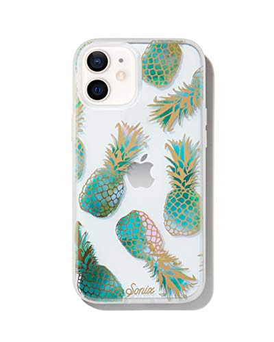 Sonix Liana Teal Case for iPhone 12 / 12Pro [10ft Drop Tested] Protective Cute Pineapple Clear Cover for Apple iPhone 12, iPhone 12 Pro