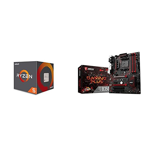AMD Ryzen 5 1500X Processor with Wraith Spire Cooler (YD150XBBAEBOX) and MSI...