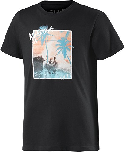 G.S.M. Europe - Billabong T Shirt Captured Boys Short Sleeve, Ragazzo, T-Shirt Captured Boys Short Sleeve, Black, 12