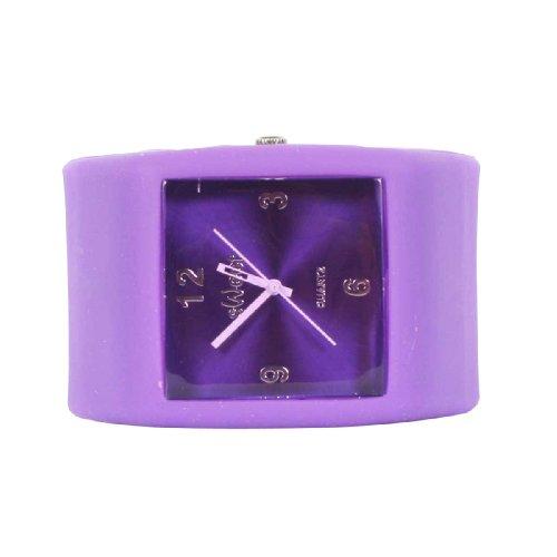 Sweet Square Rocker - Reloj de Pulsera de Silicona, Color Morado