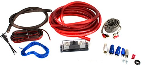 Bullz Audio 4-Gauge 3000W Professional Car Amplifier Wiring Amp Kit Red | BPE4R