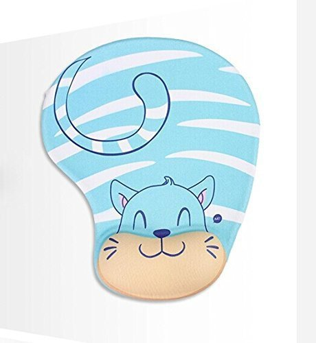 vanki Ergonomic Design Memory Foam Mouse Pad Gel Mouse Pad/Wrist Rest (Cat)