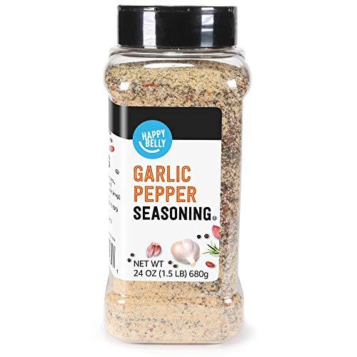 Amazon Brand - Happy Belly Garlic Pepper, 24...