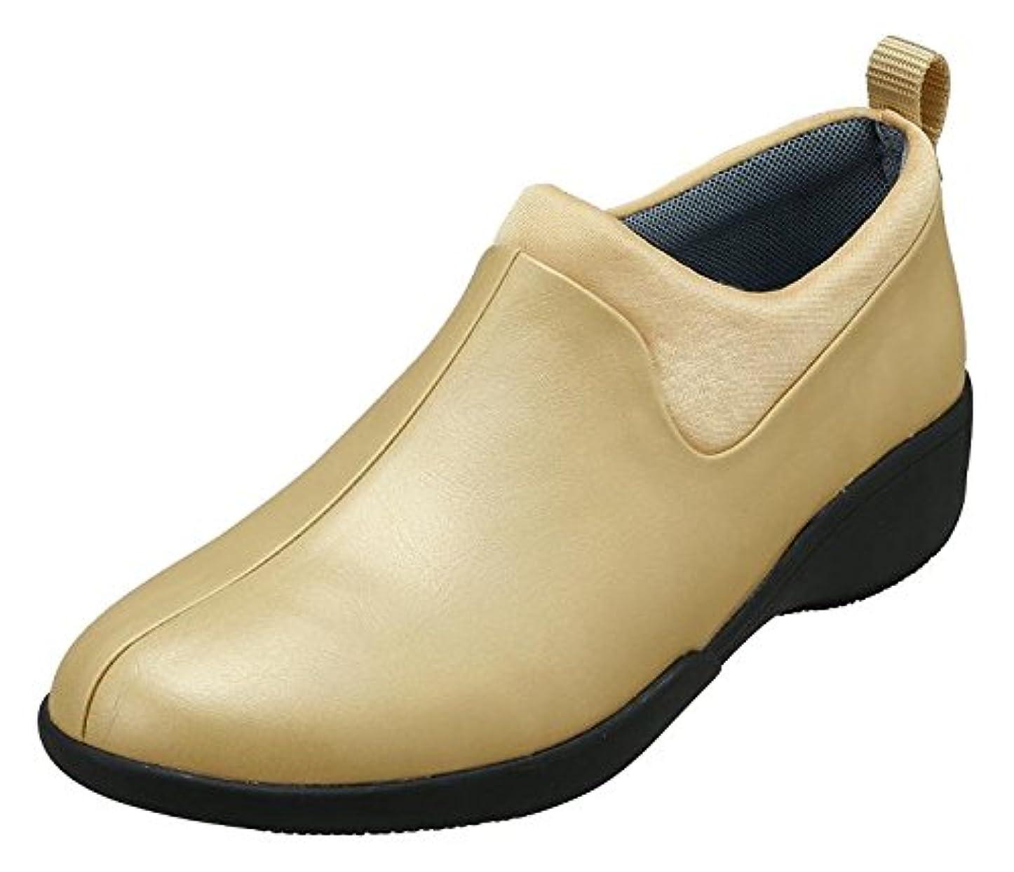 パイプラインビジョンとして[パンジー] レディースレインステップレインシューズ防水設計晴れの日も履ける4931 (24.5cm (3E), ライトゴールド)