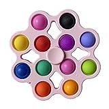 Pop It - Juguete antiestrés para adultos y niños, juguete antiestrés, sensorial antiestrés, juguete de inquietud, juguete de inquietud, juguete para apretar, juego de figuras, juguete antiestrés