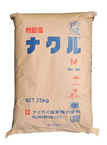 ナイカイ塩業 特級塩 ナクルM 25kg