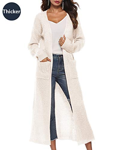 Women Chunky Cardigan Long Sleeve Loose Fit Heavy Sweater Cardigan Cable Sweater