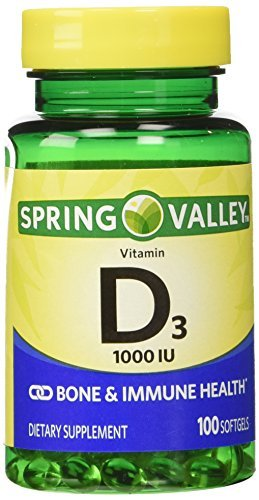 Twinpack Spring Valley High-potentcy D-3 1000 IU, Twin Pack, 100 softgels each by Spring Valley