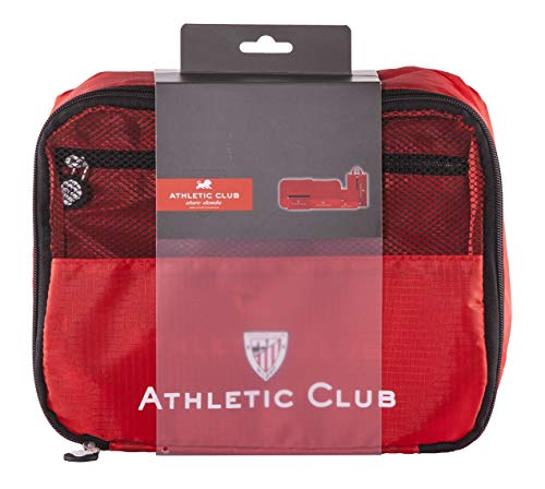 Athletic Club de Bilbao Organizador de Equipaje - Producto Oficial del Equipo, con 5 Piezas Diferentes y Fabricado en Nylon muy Ligero para No Añadir Peso a la Maleta