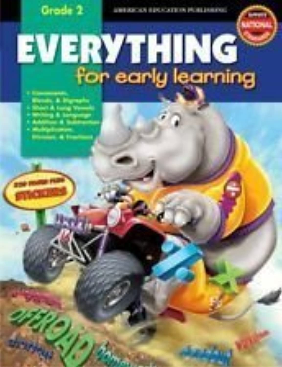 Everything for Early Learning (Grade 2) 320 Pages Plus Stickers by School Specialty Publishing